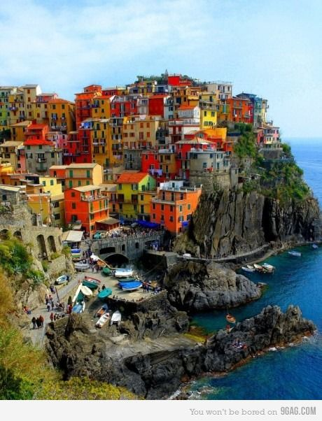This in a area in Italy called Cinque Terra, this town is named Manarola.  Thanks, Joren de Bruijne , for the info.  #Places-I-want-to-visit