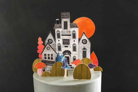 Spooky Town Cake Topper Printable - The House That Lars Built
