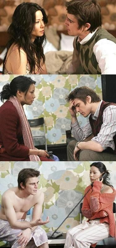 Lucy Liu in scenes from 'Lucky Number Slevin' with co-star, Josh Hartnett. (2006)
