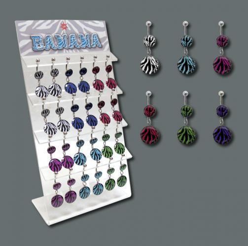 Bauchnabelpiercing im Zebra Design von piercingdiscount24 auf DaWanda.com