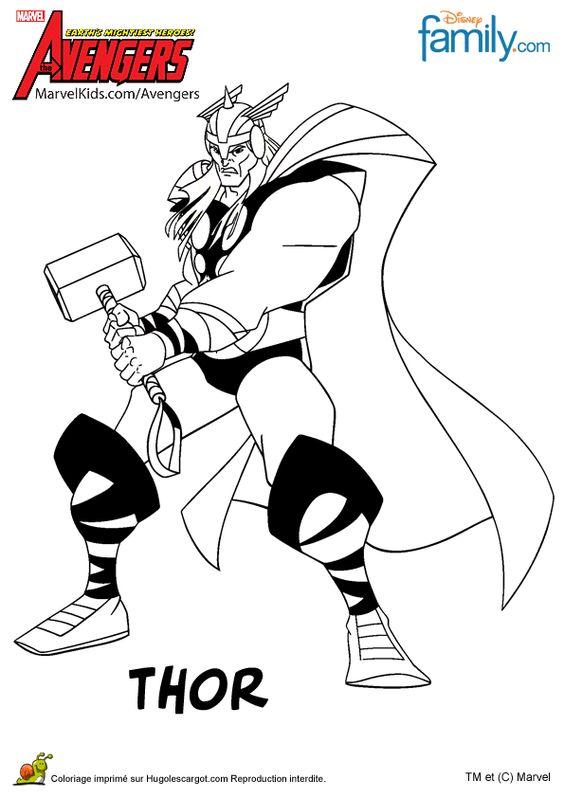 Coloriage avengers killm lning pinterest avengers - Coloriage thor ...