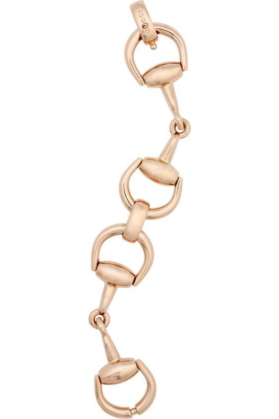 Gucci rose gold horsebit