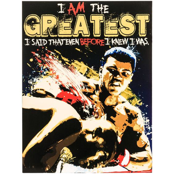 I Am the Greatest Muhammad Ali MDF Sign⎜Open Road Brands