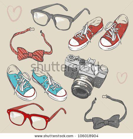 Hipster set by Peratek, via Shutterstock