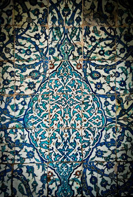 Iznik tiles, Turkey.  My favourite patterns ever!
