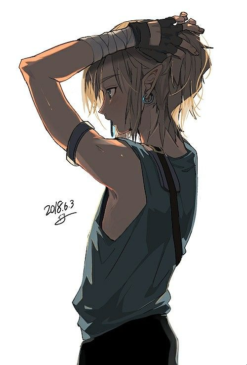 Breath Of The Wild Link Putting His Hair Up Art Video