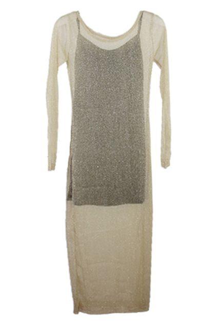 Double-set Of Sparkling Light Golden Dress  $33.99  fans love:)  #romwe