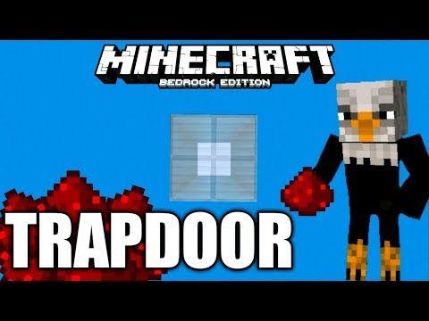 How To Make Simple 2x2 Redstone Trapdoor Minecraft Bedrock