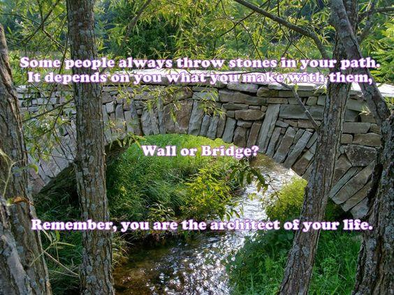 光明磊落  Humans have built civilizations with stones. They are destroyed with stones too.