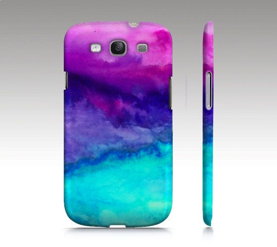 Samsung Galaxy s3 case, watercolor design, abstract painting, art for your phone. $36.00, via Etsy.