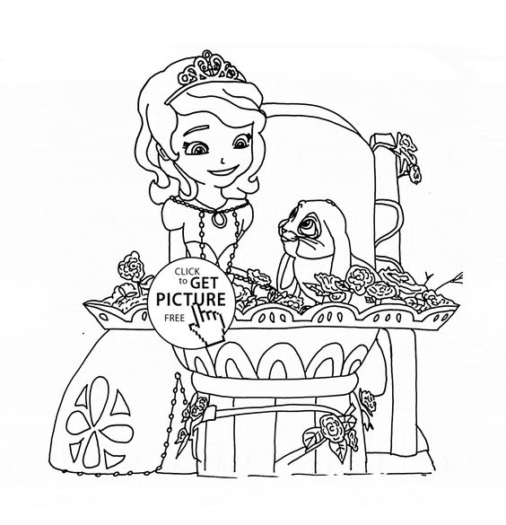 Clover And Princess Sofia Coloring Page For Kids Disney Girls Pages Printables Free