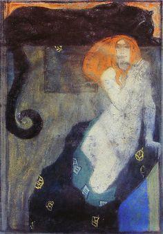 0584a69a41876e900330d50ad14c7e43.jpg (236×340)   Josef Maria Auchentaller (Vienna 1865–1949 Grado),
