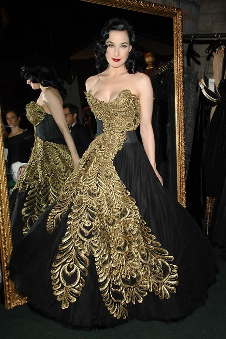 Dita von Teese wearing Alexander McQueen at the '7th On Sale' Gala in NYC, Nov 15th, 2009