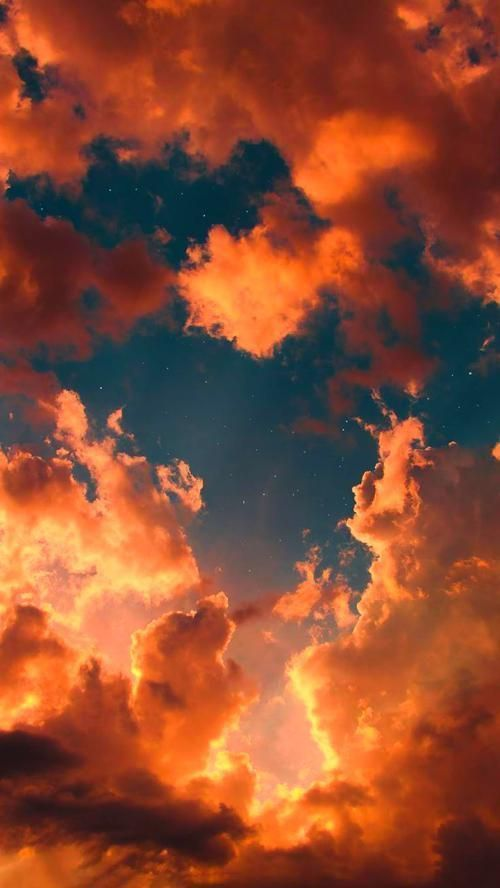 Wallpaper Iphone In 2020 Vintage Landscape Orange Aesthetic Iphone Wallpaper Sky