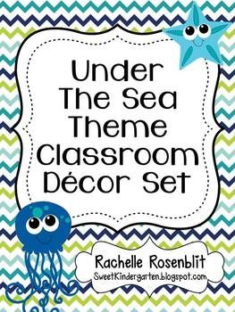 This classroom set includes everything you need for an Under the Sea ocean themed classroom!   Included are:  Alphabet Posters Calendar Cards Days of the Week Poster Set Dismissal Clip Chart Literacy Center Icons Photo Name Tags Regular Name Tags Visual Direction Cards Where are We? Poster Set Word Wall Headers Job Chart Number Posters 1-20 Table Numbers 1-6  Download the preview for a better look!