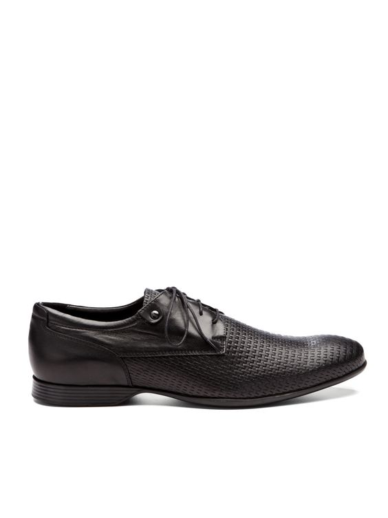 Versace Collection Woven Lace-Up Oxfords $325