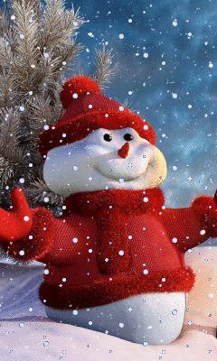 Новогодний снеговик - анимация на телефон №1293605: