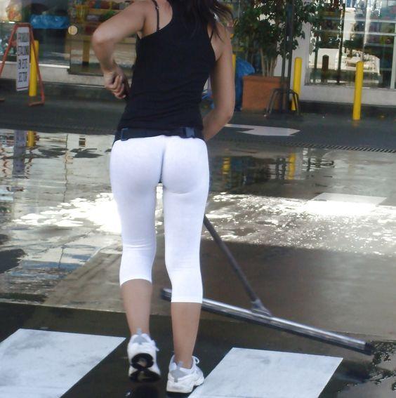 White Girl Yoga Pants