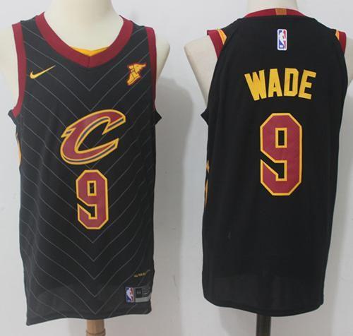 Nike Cavaliers #9 Dwyane Wade Black Statement Edition NBA Swingman ...