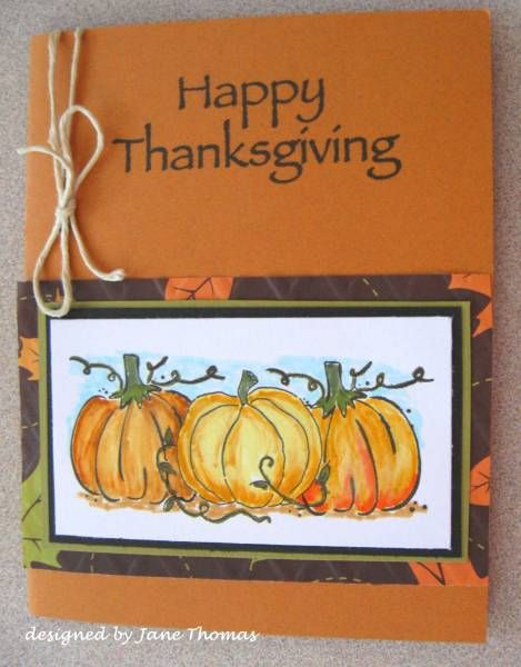 Pumpkins for thanksgiving by sunnyj cards and paper for Handmade thanksgiving decorations