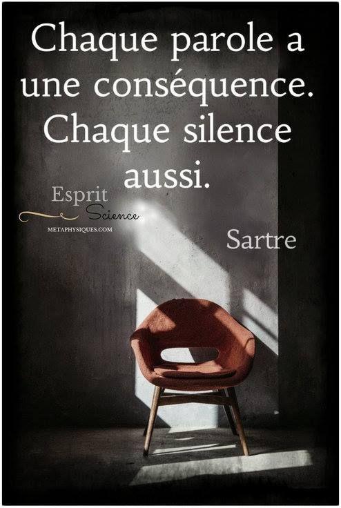 Chaque parole a une conséquence. Chaque silence aussi. #citation #citationdujour #proverbe #quote #frenchquote #pensées #phrases