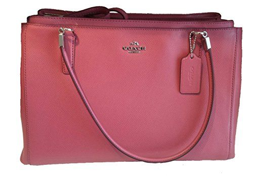 Women's Shoulder Bags - Coach Crossgrain Leather Christie Handbag F34672 Pink *** Want to know more, click on the image.