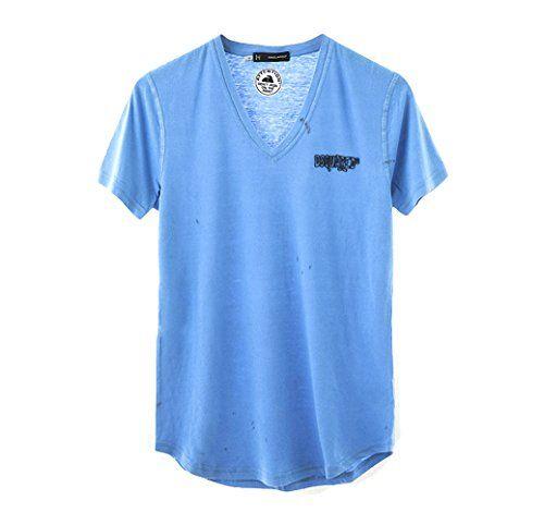 (ディースクエアード) DSQUARED2 S74GC0711 S20696 085 プリント Vネック Tシャツ ブルー (並行輸入品) RICHJUNE (S) DSQUARED2(ディースクエアード) http://www.amazon.co.jp/dp/B0113T08NA/ref=cm_sw_r_pi_dp_GtXVvb1AKK2JK