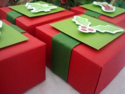 Aprenda a fazer embalagens para presentes de Natal 1