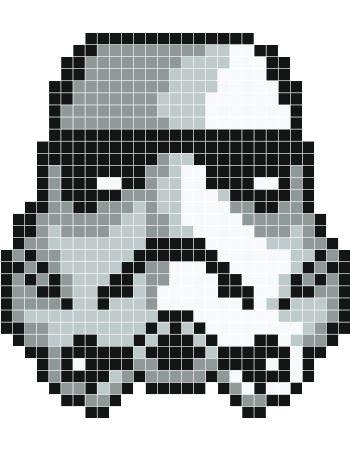 Strormtrooper pixel art - Stickaz:
