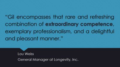 LinkedIn recommendation from Lou Weiss.  We collaborated for years on health campaigns at Paramount.