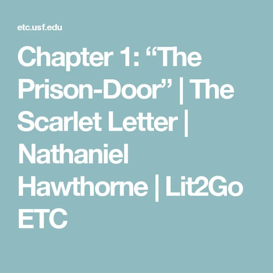 the scarlet letter chapter 7 chapter 1 the prison door the scarlet letter 25227
