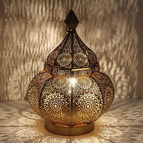 Orientalische Tischlampe Marokkanische Bodenleuchte Gohar Hohe 30 Cm In Antik Gold Look E14 Fassung Nachttischlam In 2020 Weihnachtsbeleuchtung Nachttischlampe Lampe
