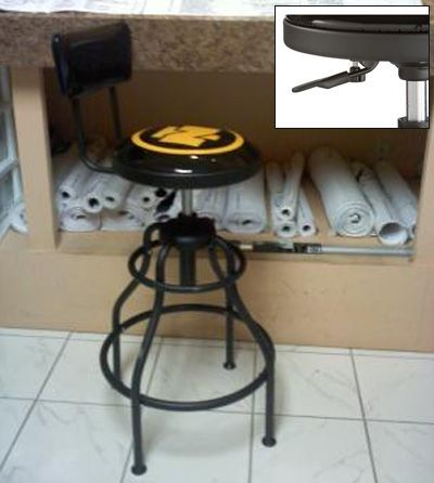 adjustable shop stool with backrest shops we and the o 39 jays