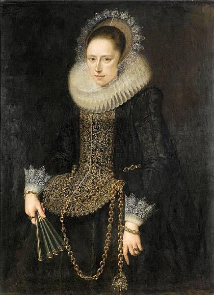 Portrait d'une Lady, Cornelis van der Voort