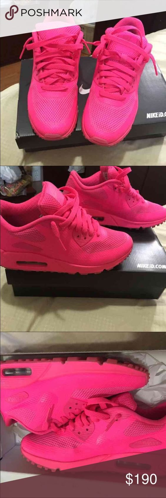 Air Max 90 pink air max 90.. NikeID Size 5y Nike Shoes Sneakers