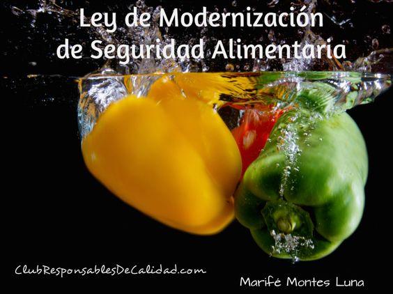 Ley de Modernización de Seguridad Alimentaria. http://clubresponsablesdecalidad.com/ley-de-modernizacion-de-seguridad-alimentaria/