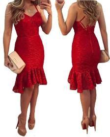 Vestido Feminino  Curto Assimétrico Ilhoes - R$ 39,00