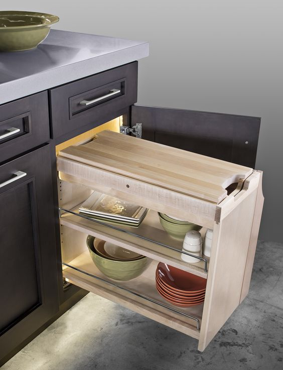 #Kitchen #KitchenIsland #SmartCab #Pullout #SmartCabPullout #KitchenOrganization #Cuttingboard #Storage