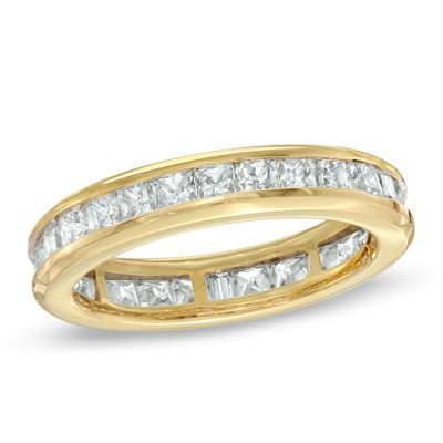 Ladies' 2 CT. T.W. Princess-Cut Diamond Eternity Channel Set Wedding Band in 14K Gold
