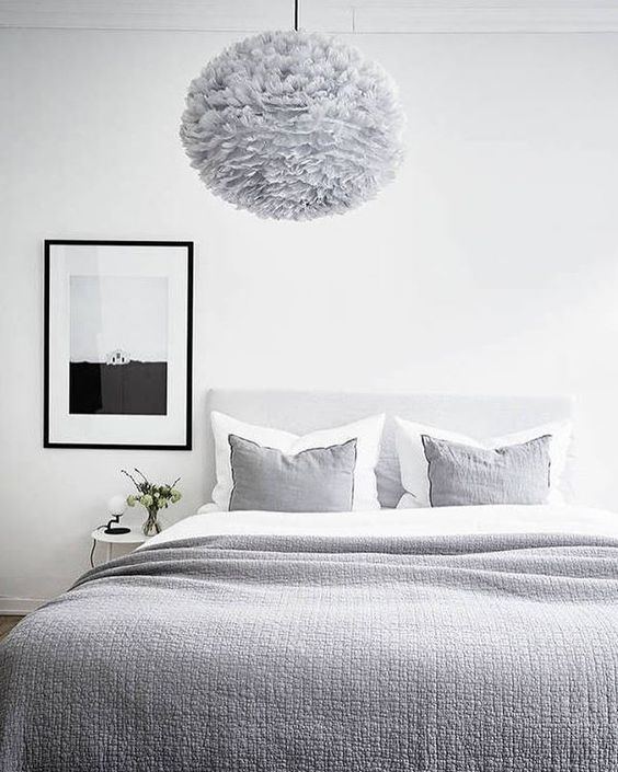 Lonely House art print in a beautiful bedroom styling by greydecose photographed by fotografjonasberg for stadshem cocolapine