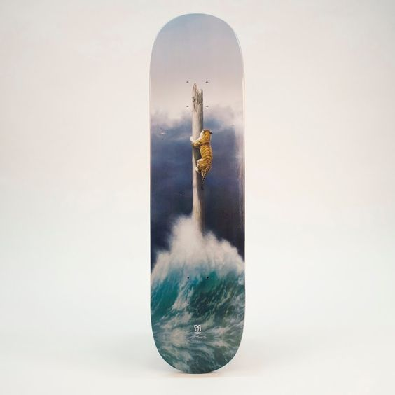 """Joel Rea - Limited edition skatedeck of his painting """"Conquest"""""""