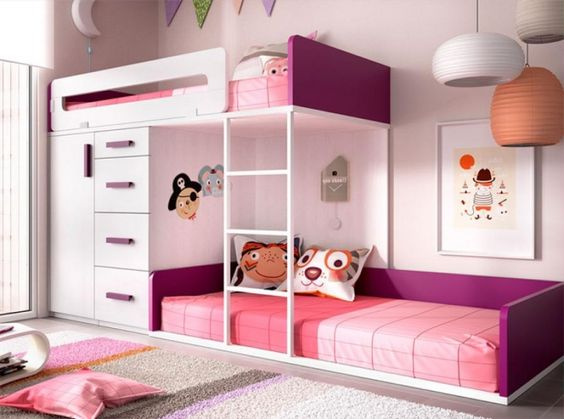 Contemporary Rimobel Bunk Bed with Under Bed Wardrobe and