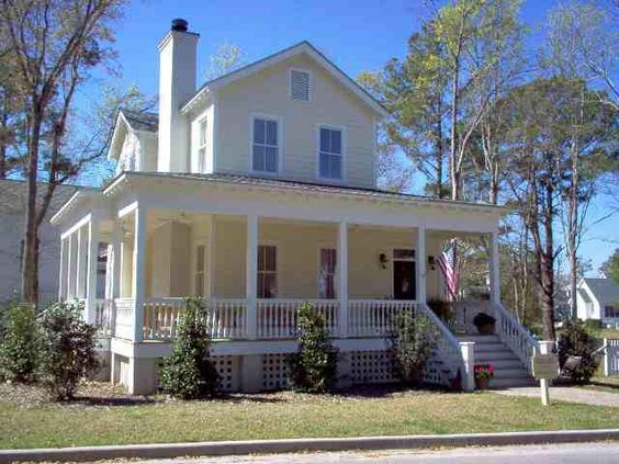 Pinterest the world s catalog of ideas for Southern style homes with wrap around porch
