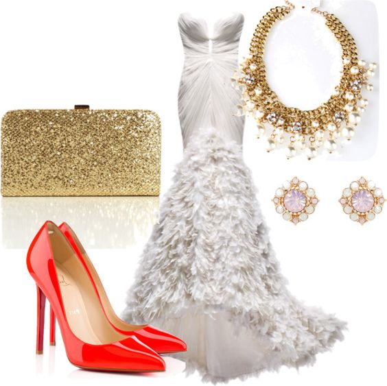 """Red Louboutin pumps"" by juli08bug on Polyvore"