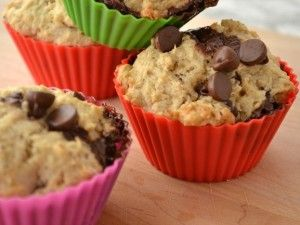 My family loves these delicious banana chocolate chip muffins! We have them with soups or chili, or for a special breakfast treat.