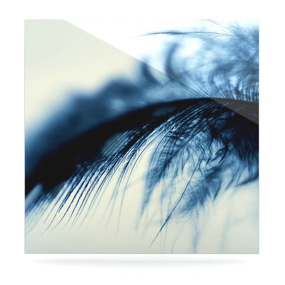 """Ingrid Beddoes """"Fall in Blue"""" Luxe Square Panel"""