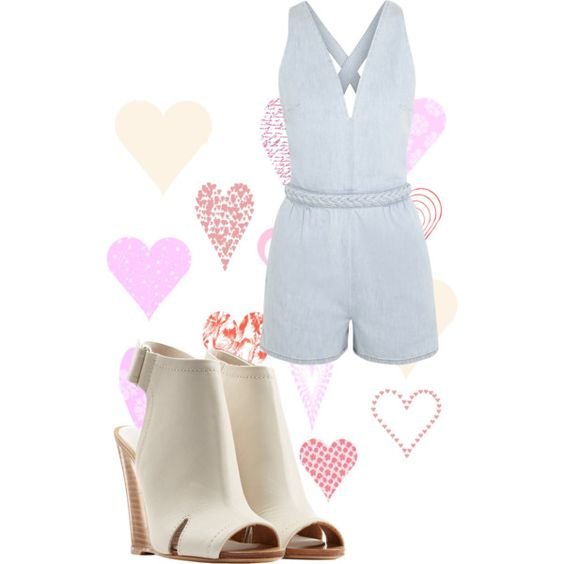 A fashion look from March 2015 featuring Valentino rompers and rag & bone sandals. Browse and shop related looks.