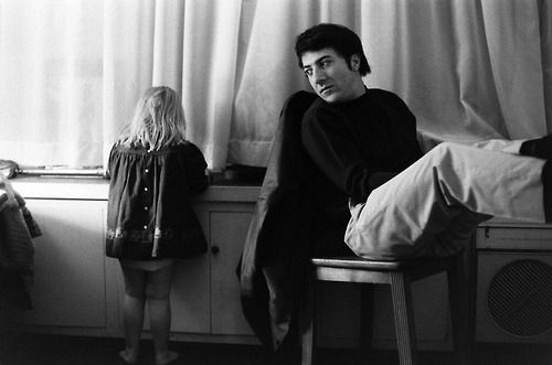 Dustin Hoffman with his stepdaughter Karina, 1969.
