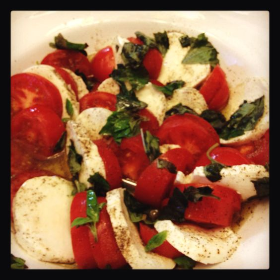 Tomato basil and mozzarella