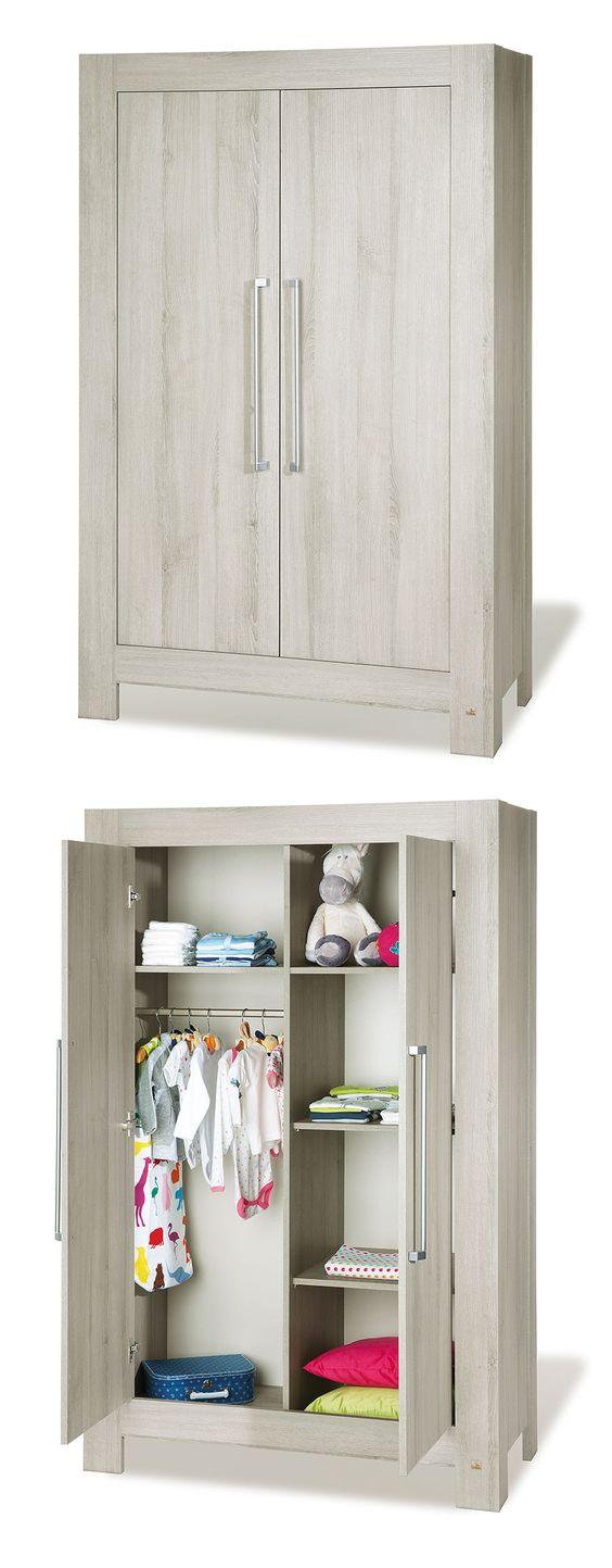 TÜV-geprüfter Kleiderschrank mit Soft-Close Türen. | Betten.de #baby #kleiderschrank #modern #babyzimmer http://www.betten.de/kleiderschrank-somnio-esche-dekor.html